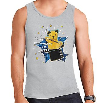 Sooty Top Hat Izzy Wizzy Let's Get Busy Men's Vest