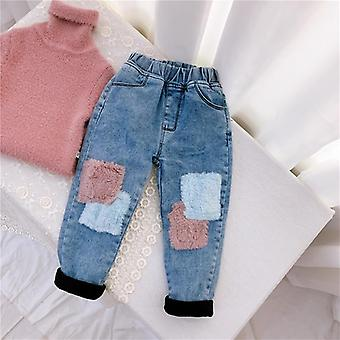 Children's Jeans, Velvet Thickening Denim Pants, Autumn And Winter