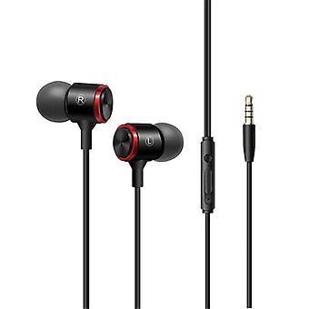 Bakeey E3 3.5mm السلكية التحكم المعدنية سماعات الأذن في الأذن