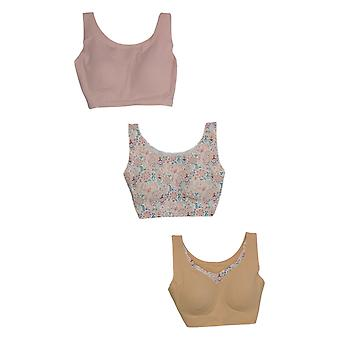 Rhonda Shear One Beige/Pink Paisley Bra Set Verwijderbare Pads 730-792