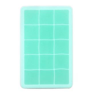 15 Grid Food Grade silikonový podnos na led a plíseň na kostku ledu - čtvercový tvar zmrzliny