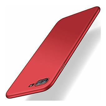 USLION iPhone 8 ממקרה דק במיוחד - כיסוי מקרה מט קשה אדום