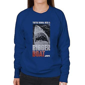 kjever større båt filmatisk scene kvinner&apos,s sweatshirt
