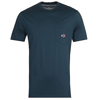 Armani Exchange Small AX Logo Navy T-Shirt