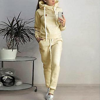 Hooded Tracksuit Autumn Long Sleeve Sport Set Outfits Striped Fashion Running