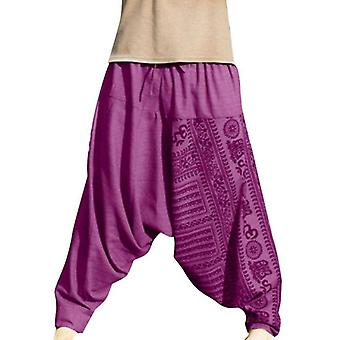 Men Fashion Print Loose Cross-pants Hip-hop Ethnic Style Sports Trousers