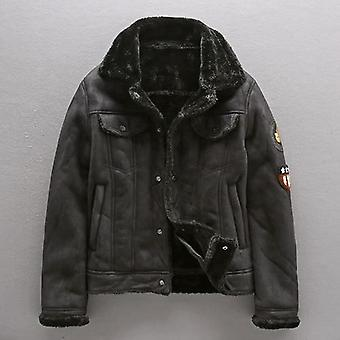 Pu Jacket Men, Thick Warm Military Bomber Tactical Leather Mens Outwear, Fleece