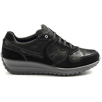 Zwarte Grisport Dames Sneaker met Plantare Memory