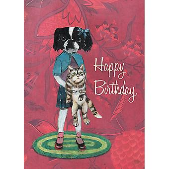 Chin Dog Birthday Card