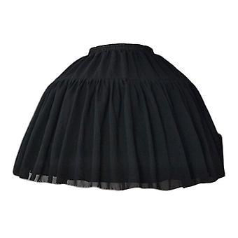 Cosplay Fish-bone Short Skirt, Lolita Carmen Slip Liner Cute Skirts, Réglable