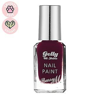 Barry M 3 X Barry M Gelly Hej Shine Nail Paint - Sort Cherry