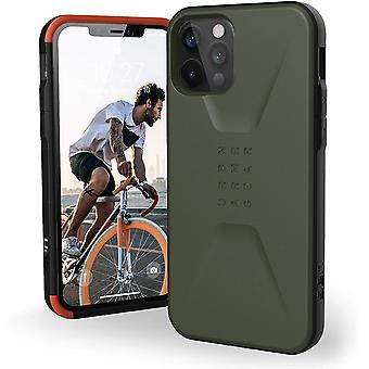 Urban Armor Gear UAG iPhone 12/12 Pro 5G- (6.1 inch) Sleek Ultra-Thin Protective Cover, Olive