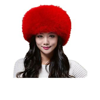 New  Warm Hat For Women Real Fur Real Leather Big Ear