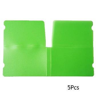5ks maska klip přenosný plastový mini skládací držák masky kontejner