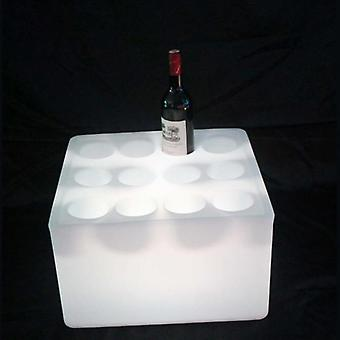 D43*h26cm 16 Color Change Led Luminous Wine Rack Waterproof Ip65 Glowing Square