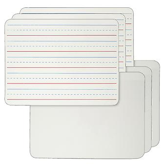 "Dry Erase Board, Lined/Plain à 2 côtés, 9"" X 12"", Pack Of 6"