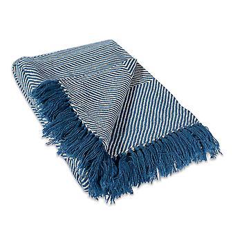 Dii werfen blau Luxus Chevron Decke