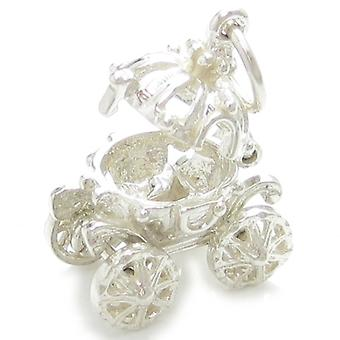 Askepot Coach Åbning Sterling Silver Charm 0,925 X 1 Carriage Charms - 4481