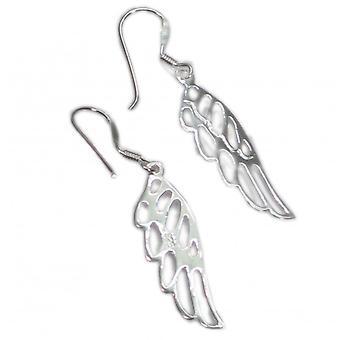 Angel Wings Sterling hopea pudota korvakorut .925 X 1 pari enkelit siipi