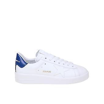 Golden Goose Gmf00197f00053910327 Hombres's Zapatillas de cuero blancas/azules