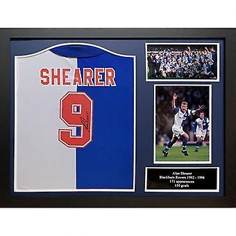 Blackburn Rovers Shearer Signed Shirt (Framed)