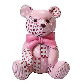 Figurine - Pink Patchwork Ted - sencillo