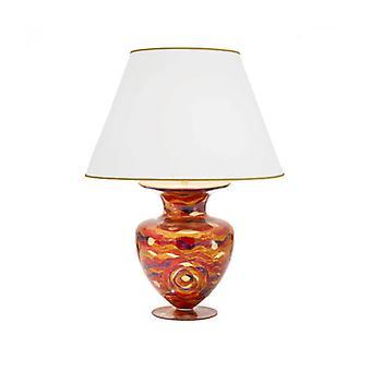 Anfora Lámpara De Mesa De Diseño En Oro De 24 Quilates 1 Bombilla Rojo Agua, Altura 90 Cm
