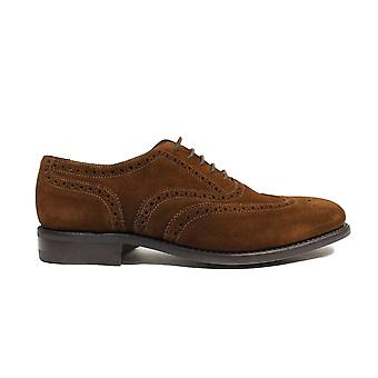 Loake 302SRG Brown Suede Leather Mens Oxford Brogue Shoes