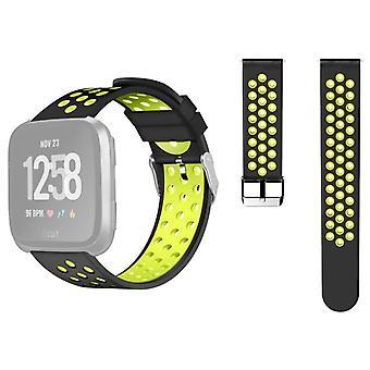 Fitbit Versa Simple Fashion Silikoni kellohihna (keltainen)
