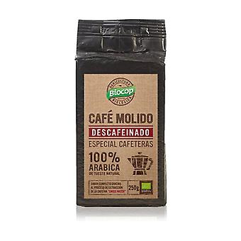 Decaffeinated Ground Coffee 100% Arabic 250 g of powder