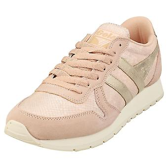 Gola Daytona Lizard Womens Mode utbildare i Blush Pink