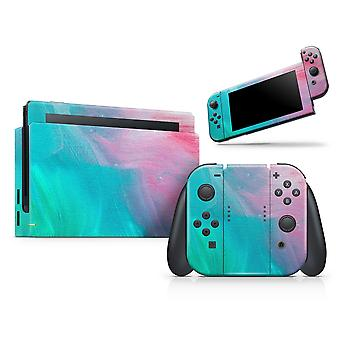 Pastel Marble Surface - Full Body Skin Decal Wrap Kit For Nintendo