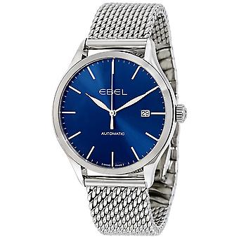 Ebel Classic Automatic Blue Dial Stainless Steel Men's Watch 1216149