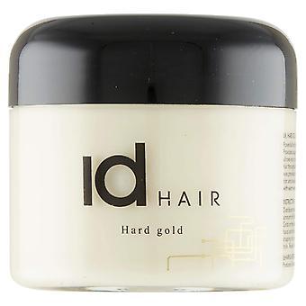 ID الشعر الذهب الصلب 100 مل - شمع الشعر المهنية للرجال - عقد قوي وتألق متوسط - مناسبة للشعر القصير - خالية من البارابينين