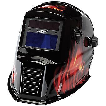Draper 38392 Solar Powered Auto-Varioshade svejsning og slibning hjelm-flamme