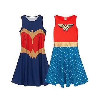 Wonder Woman Kleid für Frauen   DC Comics Cosplay Kleid Rot ODER Blau Optionen   Damen Fancy Dress Party Outfit Geschenke