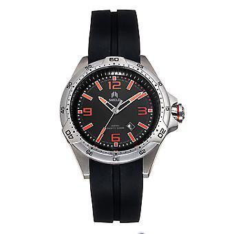 Shield Vessel Strap Watch w/Date - Black