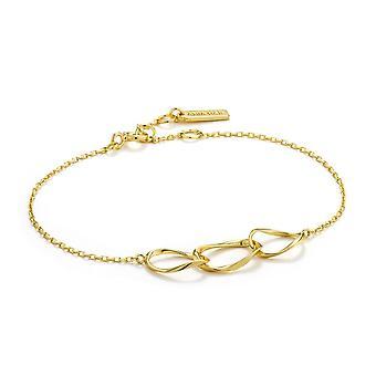 أنيا هاي الاسترليني الفضة لامعة الذهب مطلي دوامة نيكزس سوار B015-01G