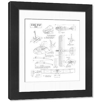 LVG C.VI Cutaway Drawing. Framed Photo. LVG C.VI Cutaway Drawing.