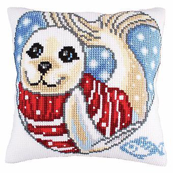 Samling d'Art Cross Stitch Kit: Kudde: Seal Cub