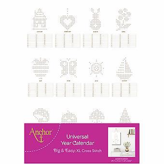 Anchor Cross Stitch Kit: Universal Year Calendar