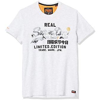 Superdry Vintage Logo Fero Tee T-Shirt, Grey (Ice Marl 54g), XS Men's
