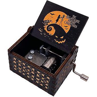 FengChun der Alptraum vor Weihnachten Musik Box Hand Kurbel Musical Box geschnitzt Holz musikalische Geschenke