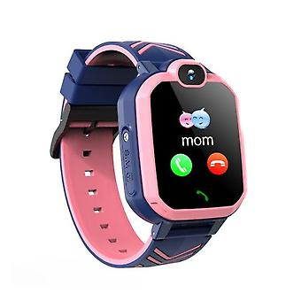 Pink Smart Watch With GPS GSM Locator Touch Screen Tracker SOS Waterproof For Kids Children