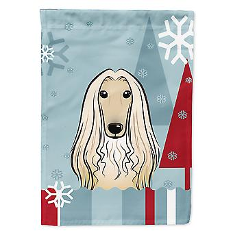 Caroline'S Treasures Bb1740Chf Winter Holiday Afghan Hound Canvas House Size Flag, Multicolor, Large
