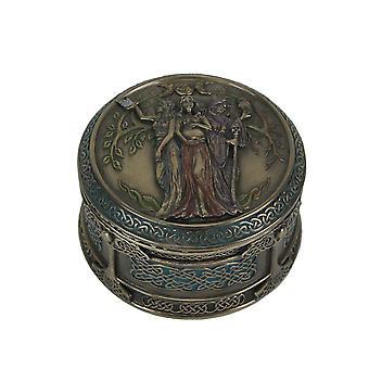 Celtic Triple gudinnan ogift mor Crone prydnadssak Box