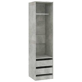 vidaXL vaatekaappi laatikot betoni harmaa 50×50×200 cm lastulevy