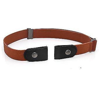 Kahverengi tokasız kemer görünmez elastik bel kemerleri kot pantolon cai1263 için ayarlanabilir streç kemer