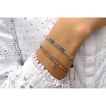 Boho betty verona pink 2 layered bracelet stack