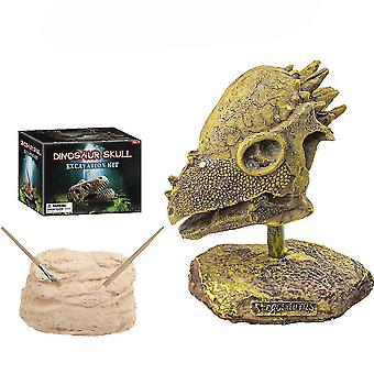 Pachycephalosaurus Skull Fossils Science Kits Uddannelse Arkæologi Biologi Fødselsdag Gave